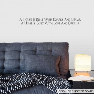 a house wall decal quote