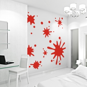 Paint splatters wall decal