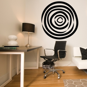 Hypnotizing circle wall decal