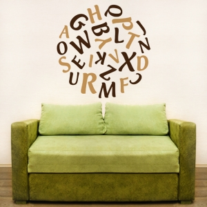 Ball of letters wall decal for nursery