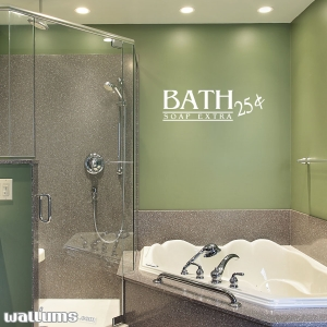 Bath 25 cents wall decal