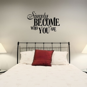 Simply wall decal quote