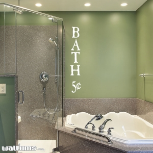Bath 5 cents wall decal