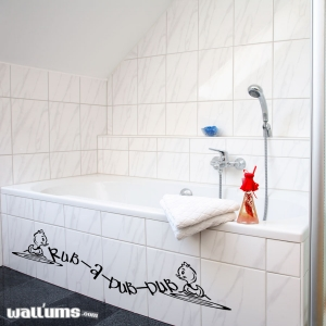 Rub a dub wall decal quote