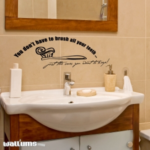 You don't wall decal quote