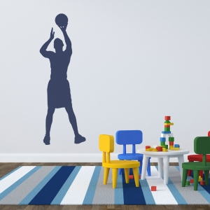 Basketball Jumpshot Wall Decal
