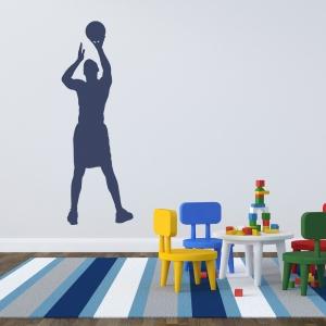 Basketball Jumpshot Wall Decal