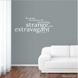 Break the wall decal quote