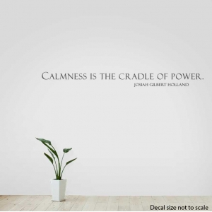 Calmness wall decal quote
