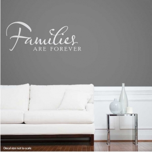 Families are wall decal quote
