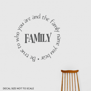 Family Be wall decal quote