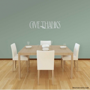 Give thanks wall decal quote