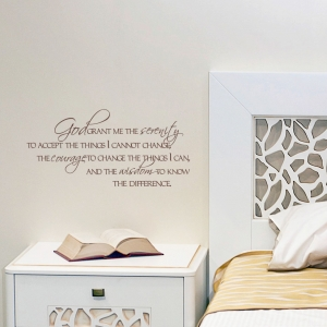 God Grant me wall quote decal