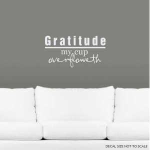 Gratitude wall decal quote