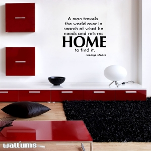 A man travels wall decal quote