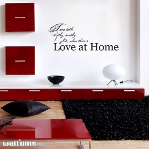 Time doth softly wall decal quote