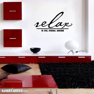 Relax wall decal quote