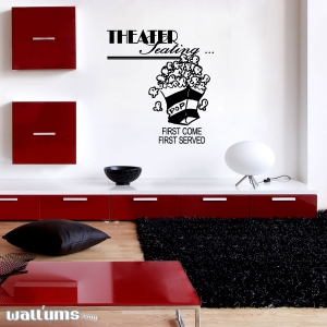 Home theater wall decal quote