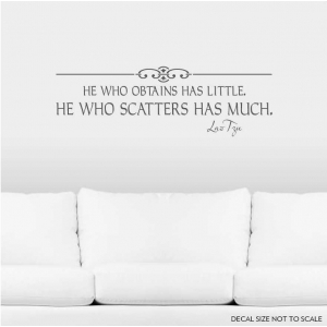 He who wall decal quote