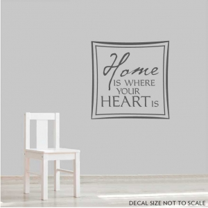 Home is where wall decal quote