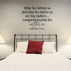 What lies wall decal quote