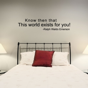 Know then wall decal quote