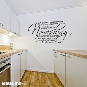 It isn't the wall decal quote