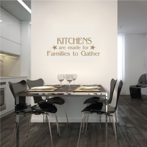 Kitchens are wall decal quote