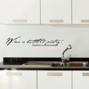 Wine is wall decal quote