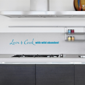 Love and cook wall decal quote