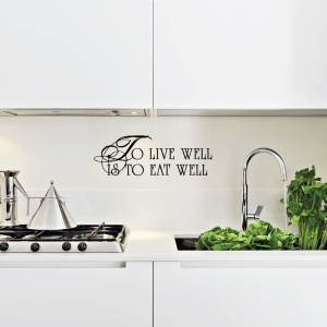 To live well wall decal quote