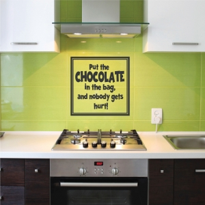 Put the wall decal quote