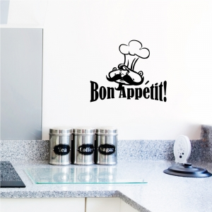 Bon appetit wall decal quote