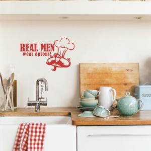 Real Men wall decal quote