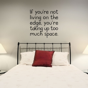 If your not wall decal quote