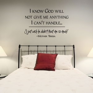 I know wall decal quote