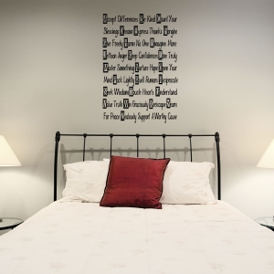 ABC wall decal quote
