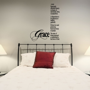 Grace wall decal quote