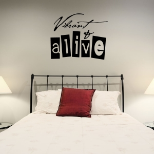 Vibrant wall decal quote