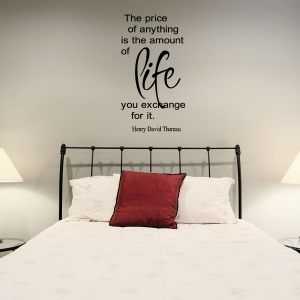 The price wall decal quote