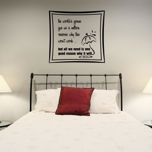 The worlds wall decal quote