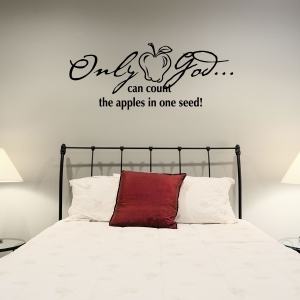 Only God wall decal quote