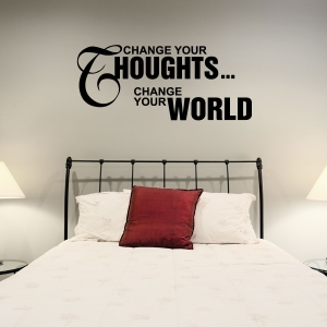 Change your wall decal quote