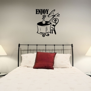 Enjoy wall decal quote