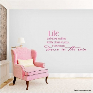 Life isn't about wall decal quote