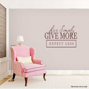 Love simply wall decal quote