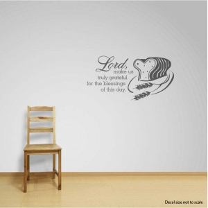 Lord wall decal quote