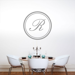 Monogram Circle 1 Wall Art Decal