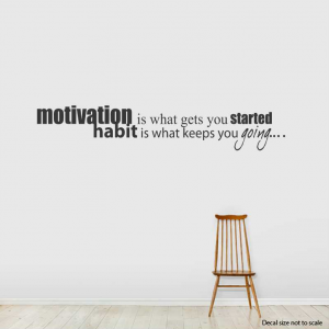 Motivation wall decal quote