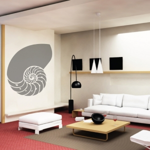 Seashell wall decal